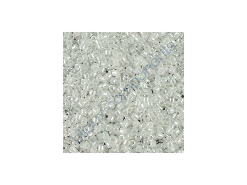 Miyuki Delica, Ceylon White, vel.1,6 mm, průtah 0,8 mm