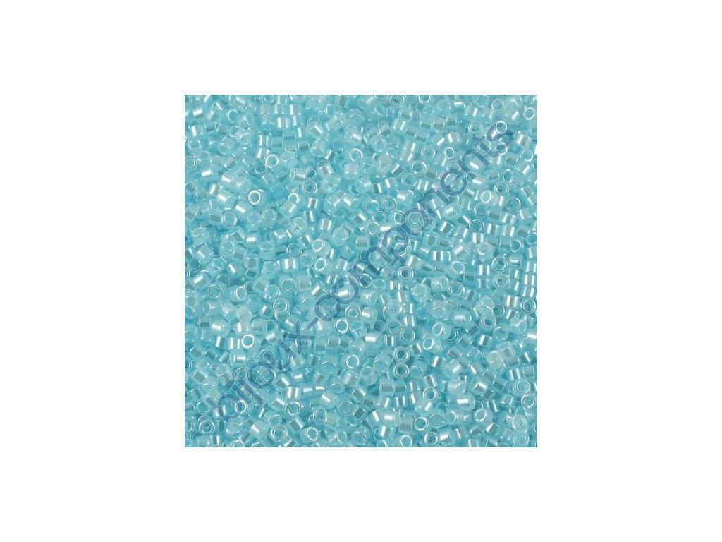 Miyuki Delica, Ceylon Pastel Blue, vel.1,6 mm, průtah 0,8 mm