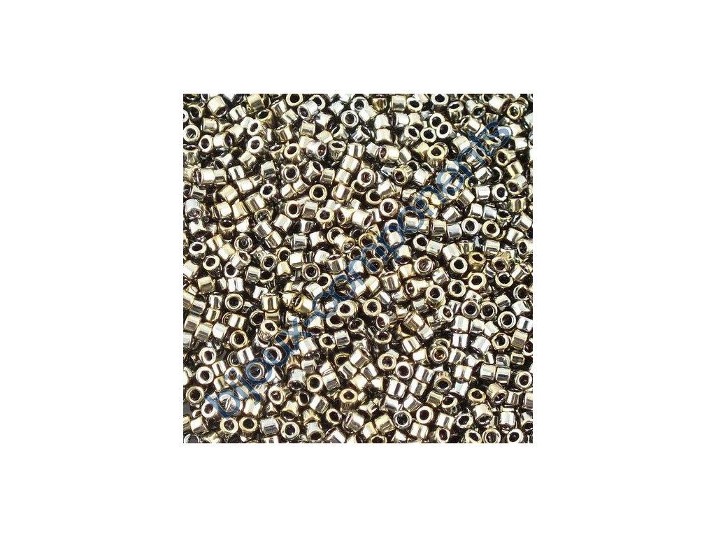 Miyuki Delica, Galvanized Tarnished Silver, vel.1,6 mm, průtah 0,8 mm