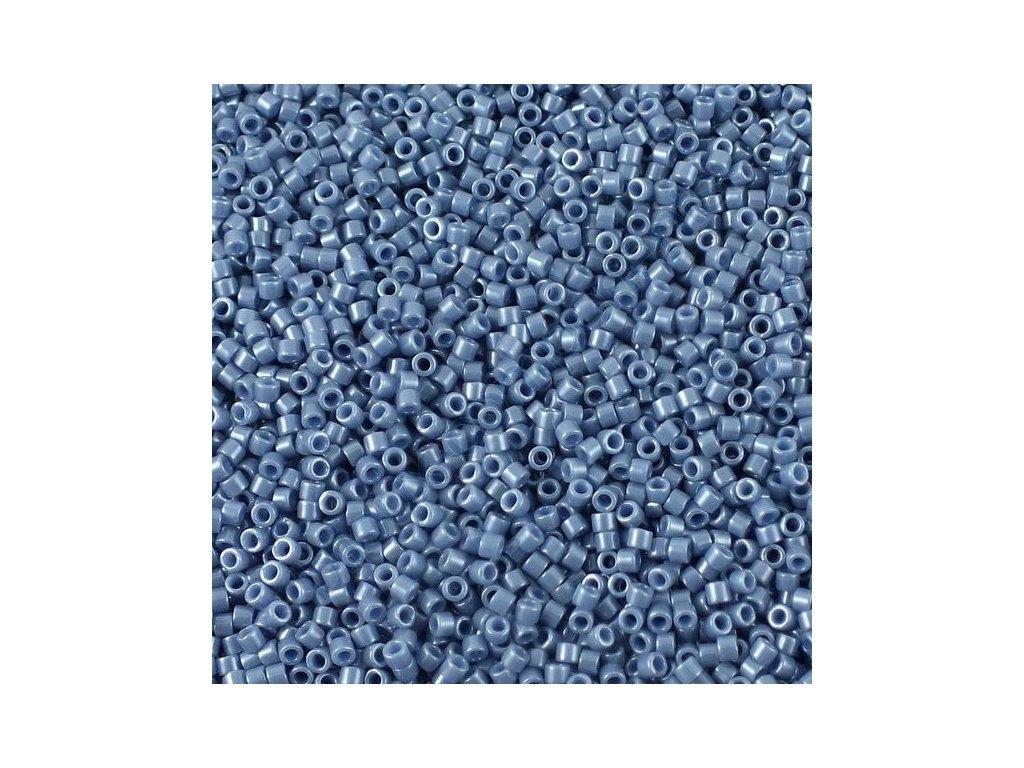 Miyuki Delica, Opaque Blueberry Luster, vel.1,6 mm, průtah 0,8 mm