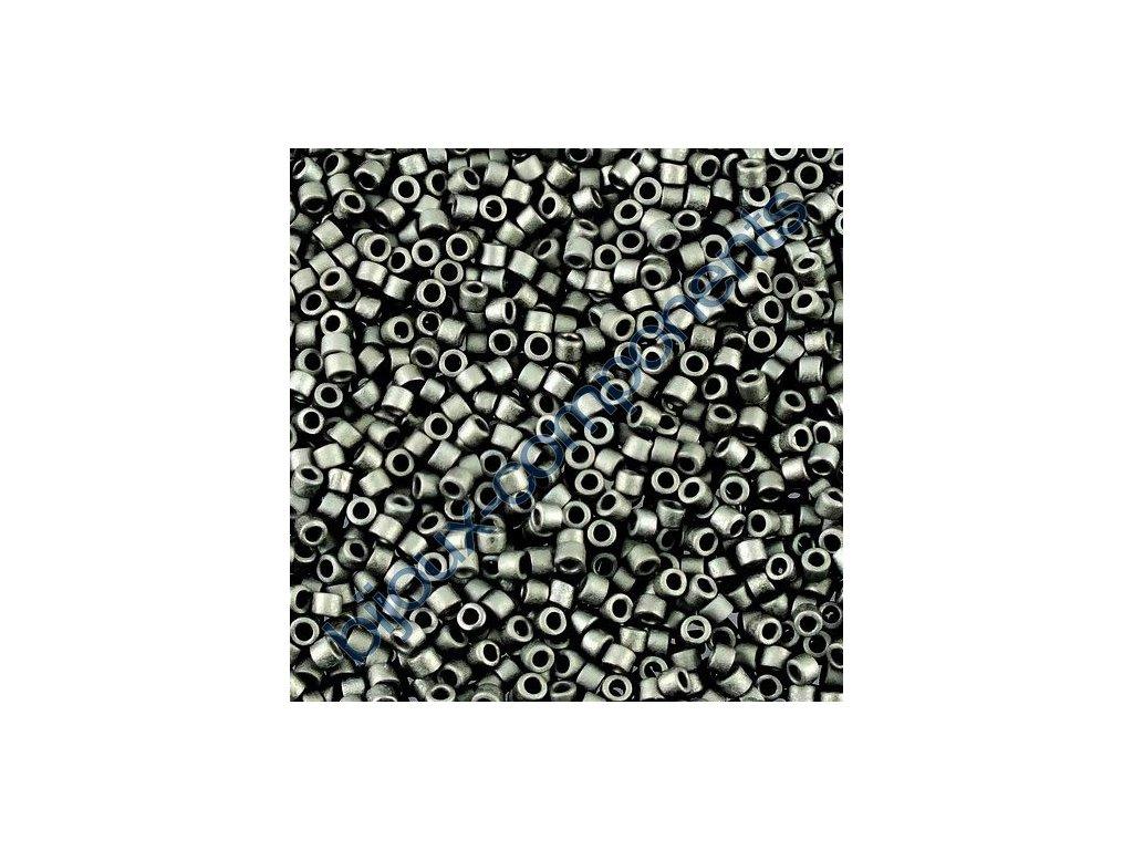 Miyuki Delica, Matte Black, vel.1,6 mm, průtah 0,8 mm