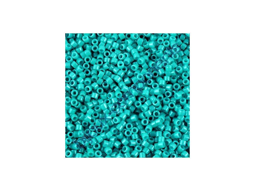 Miyuki Delica, Opaque Turquoise Green Dyed, vel.1,6 mm, průtah 0,8 mm