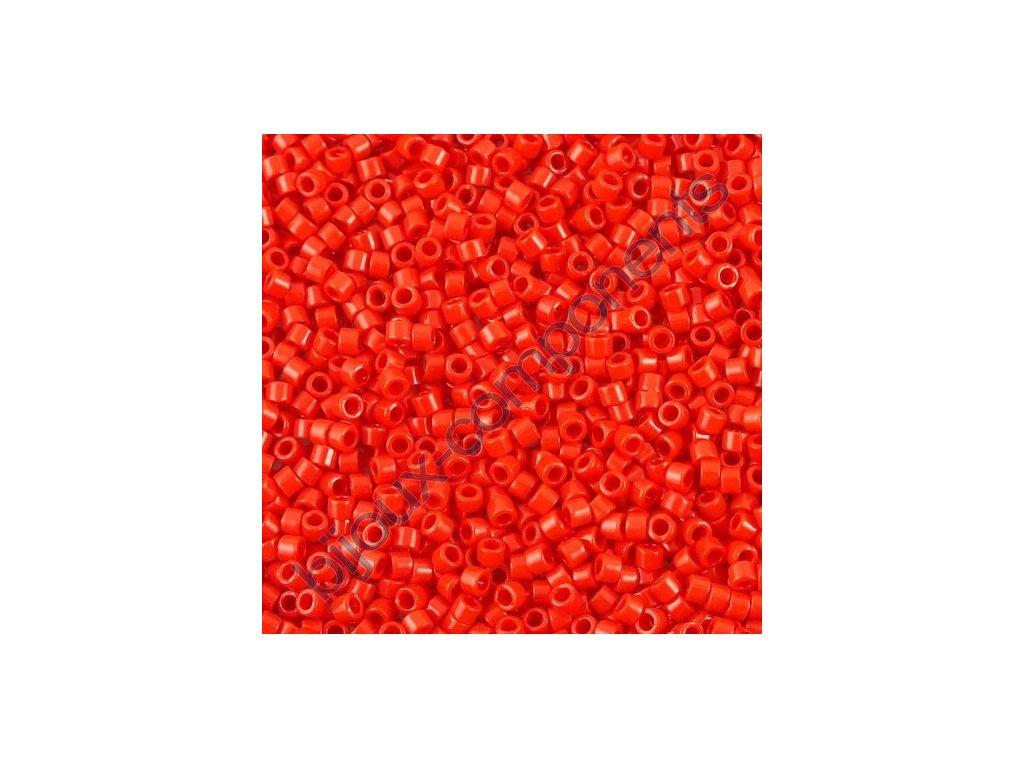 Miyuki Delica, Opaque Red, vel.1,6 mm, průtah 0,8 mm