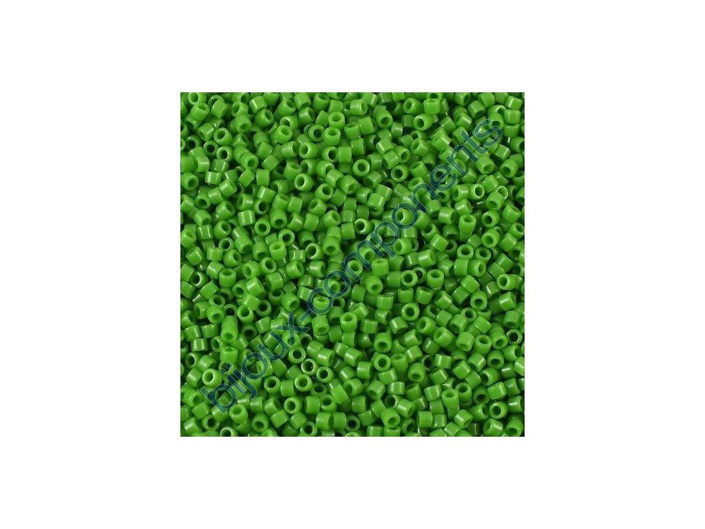 Miyuki Delica, Opaque Green, vel.1,6 mm, průtah 0,8 mm