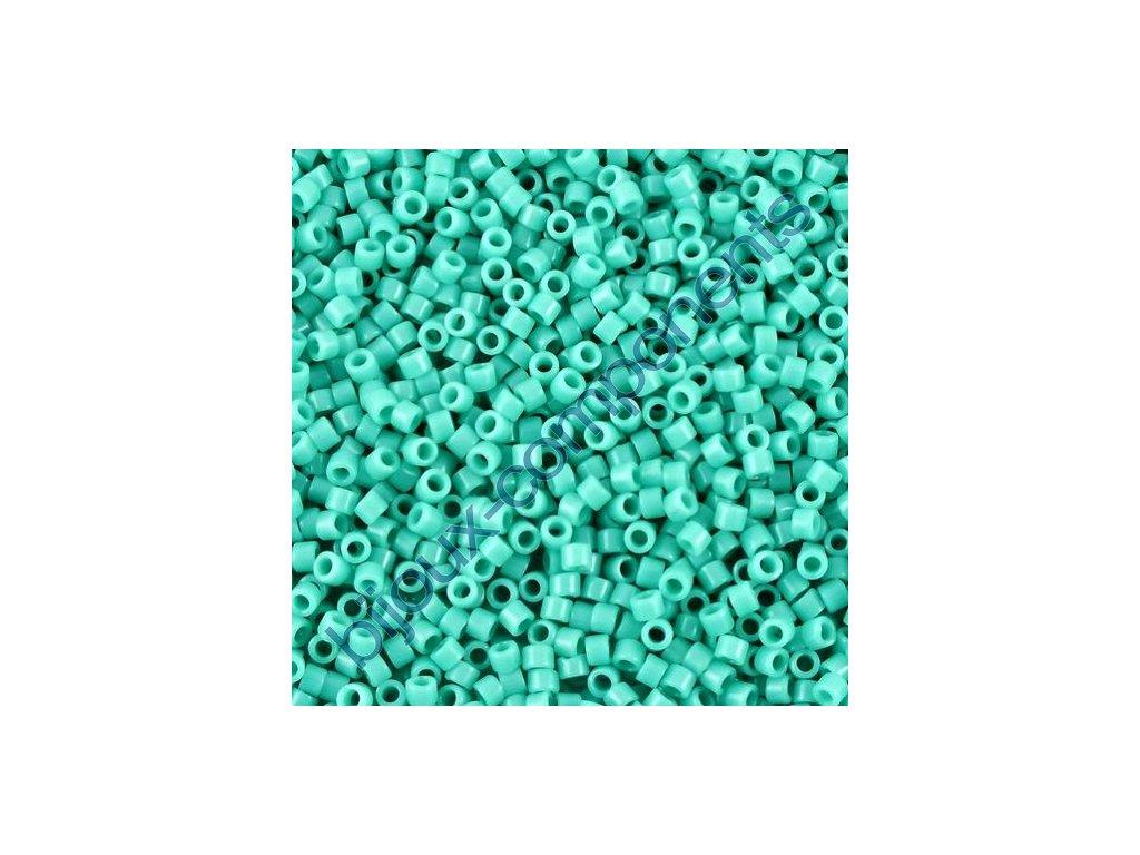 Miyuki Delica, Opaque Turquoise, vel.1,6 mm, průtah 0,8 mm