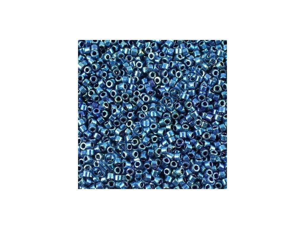 Miyuki Delica, Sparkling Blue Lined Crystal, vel.1,6 mm, průtah 0,8 mm