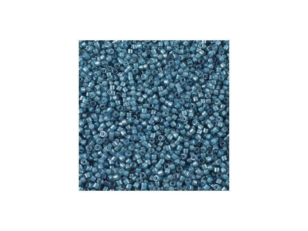 Miyuki Delica, Luminous Dask Blue, vel.1,6 mm, průtah 0,8 mm