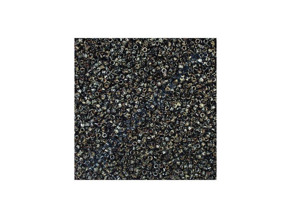 Miyuki Delica, Black Picasso, vel.1,6 mm, průtah 0,8 mm