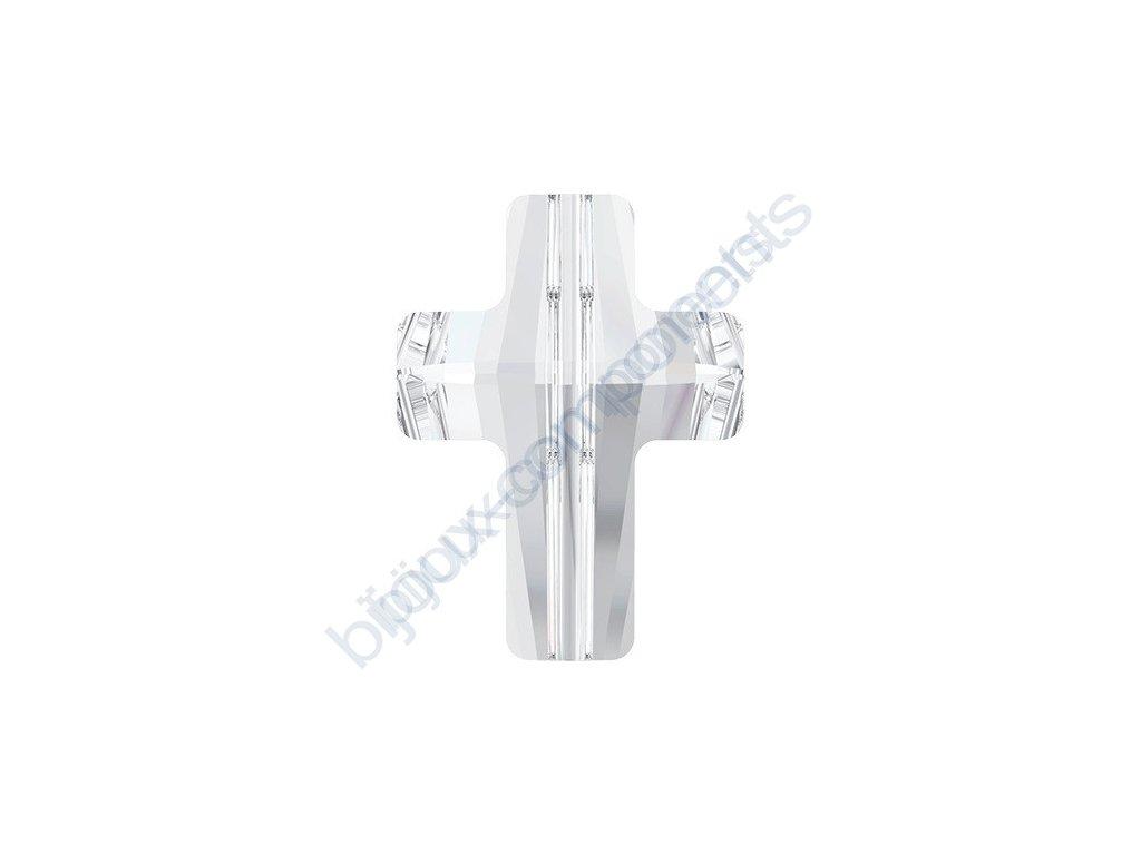 SWAROVSKI CRYSTALS Cross Bead - korálek, crystal, 14mm