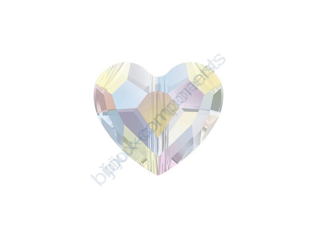 SWAROVSKI CRYSTALS Love Bead - korálek, crystal AB, 12mm