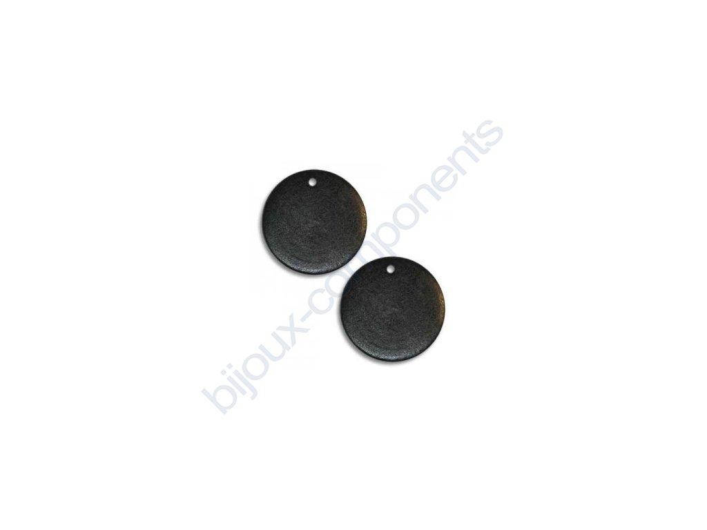 Dřevěné perle - plochý disk, cca 25mm
