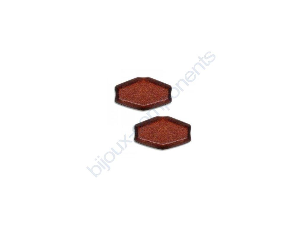 Dřevěné perle - kosočtverec, cca 22x12mm