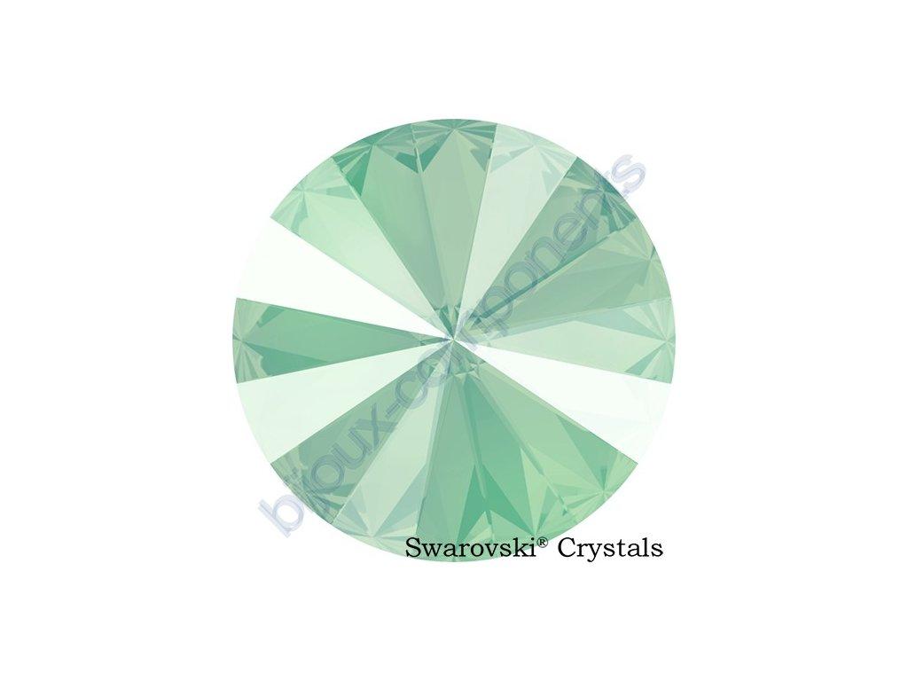 SWAROVSKI CRYSTALS kameny - Rivoli Chaton, crystal mint green, 12mm