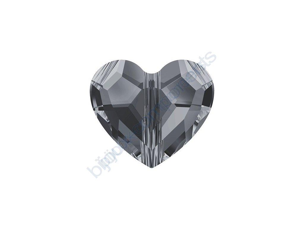 SWAROVSKI CRYSTALS Love Bead - korálek, crystal silvernight 2x, 8mm