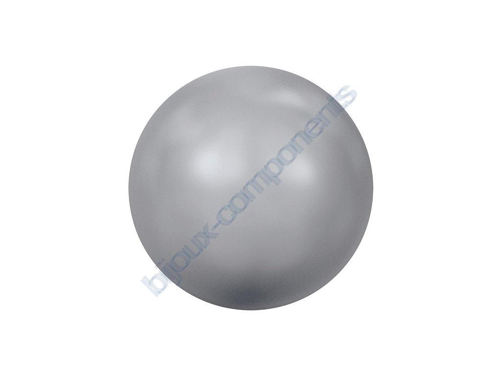 SWAROVSKI CRYSTALS voskované půldírové perle, šedé, 6mm