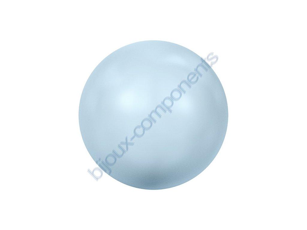 SWAROVSKI CRYSTALS voskované půldírové perle, světle modré, 6mm