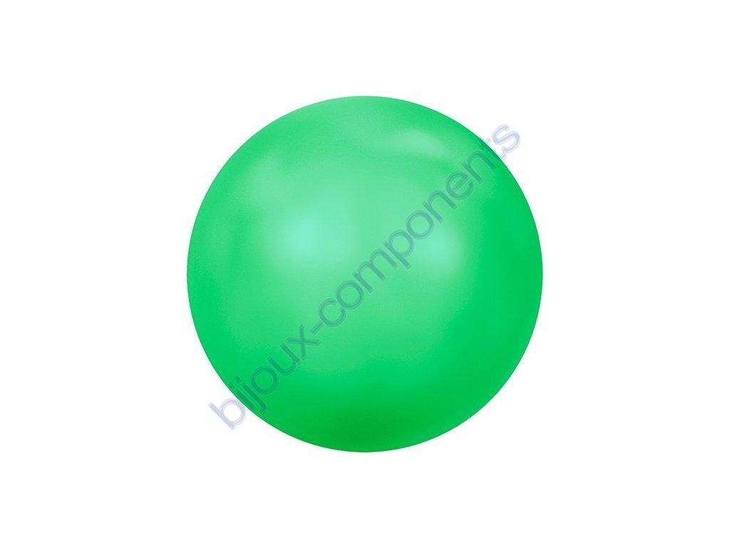 SWAROVSKI CRYSTALS voskované půldírové perle, neonově zelené, 6mm