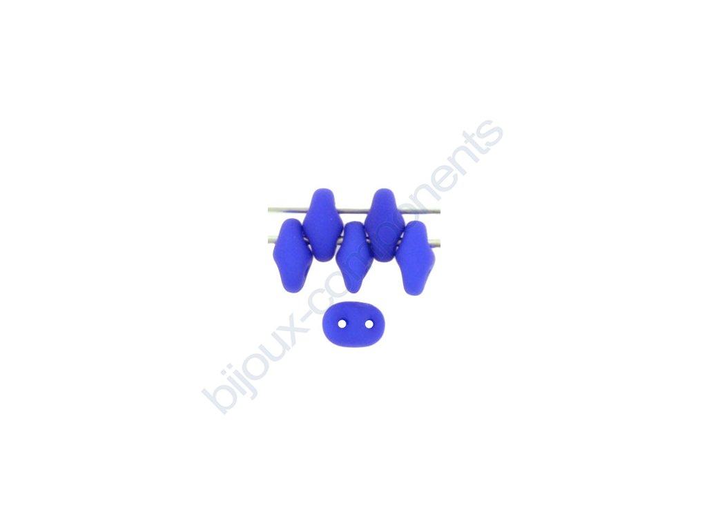 Matubo Superduo, neon ocean blue, 2,5x5 mm, průtah 0,8 mm, 5 g