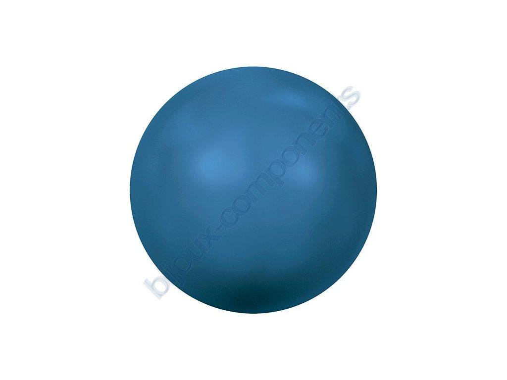 SWAROVSKI CRYSTALS voskované půldírové perle, lapis, 8mm