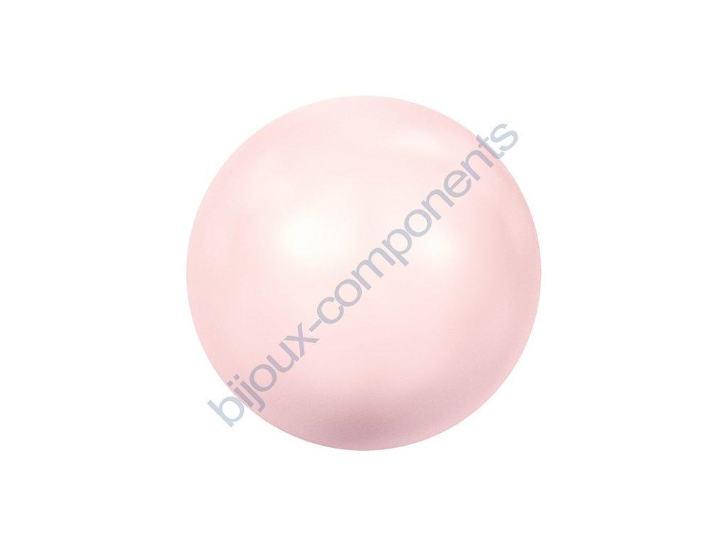 SWAROVSKI CRYSTALS voskované půldírové perle, rosaline, 8mm
