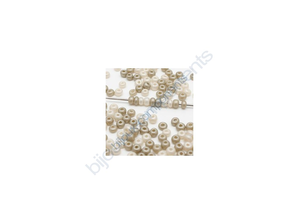 skleněné korálky - ramš cca 2x3,5 mm