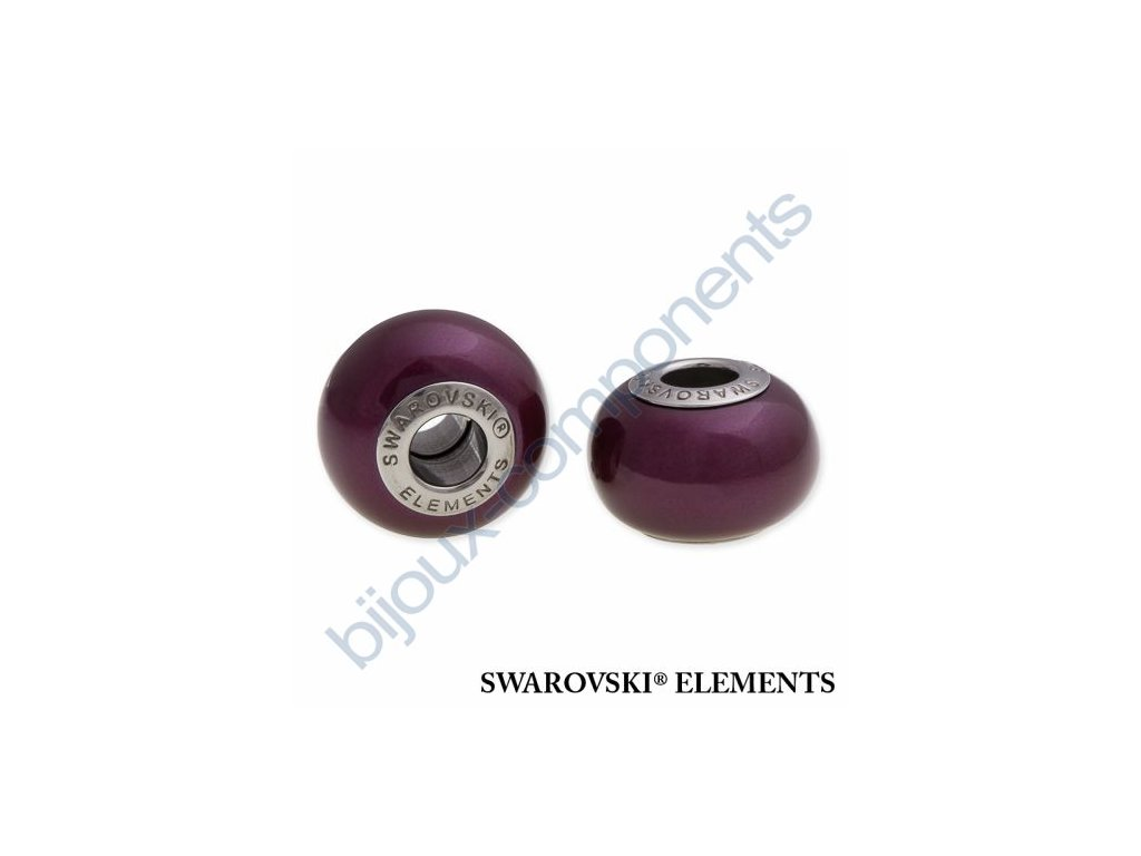 SWAROVSKI ELEMENTS BeCharmed Pearl - crystal blackberry pearl steel, 14mm