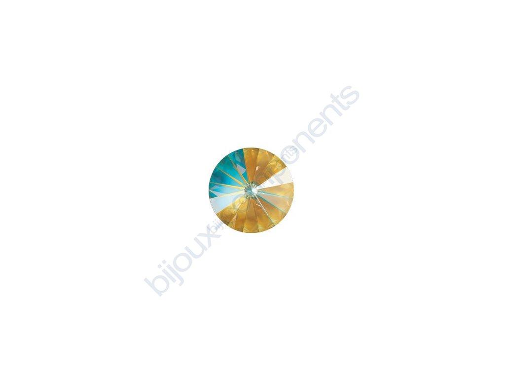 SWAROVSKI CRYSTALS kameny - Rivoli Chaton, crystal ochre, 12mm