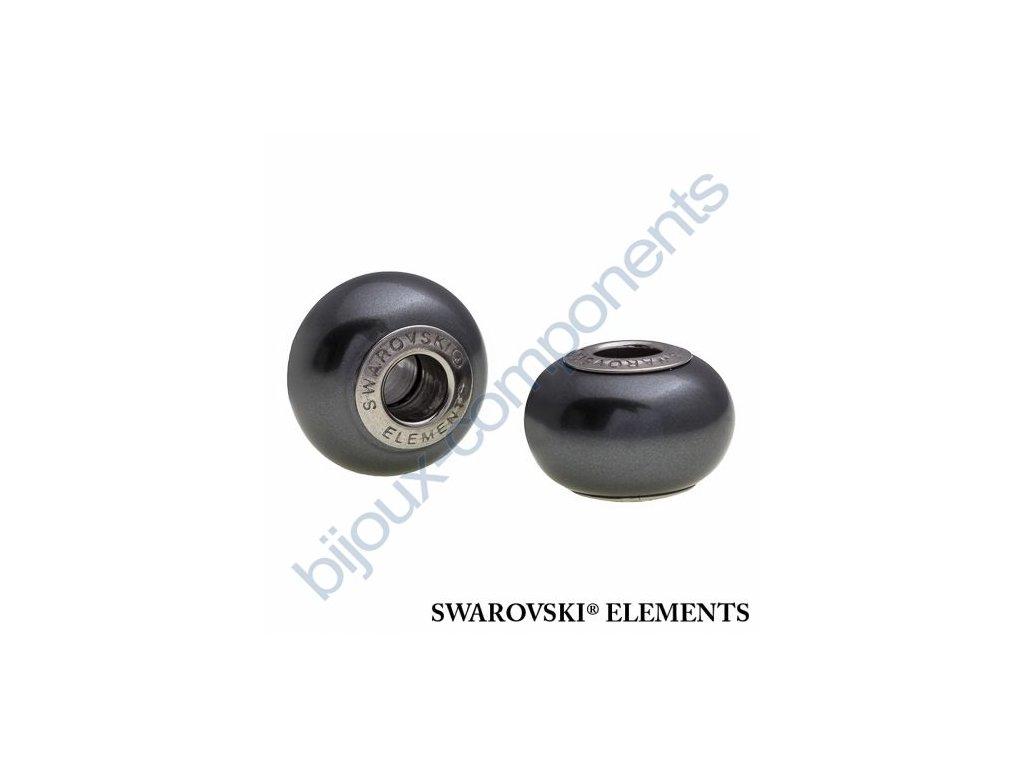 SWAROVSKI ELEMENTS BeCharmed Pearl - crystal black pearl steel, 14mm