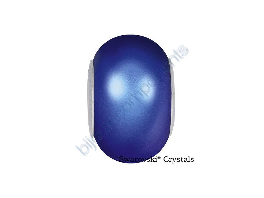 SWAROVSKI CRYSTALS BeCharmed Pearl - crystal iridescent dark blue pearl steel, 14mm