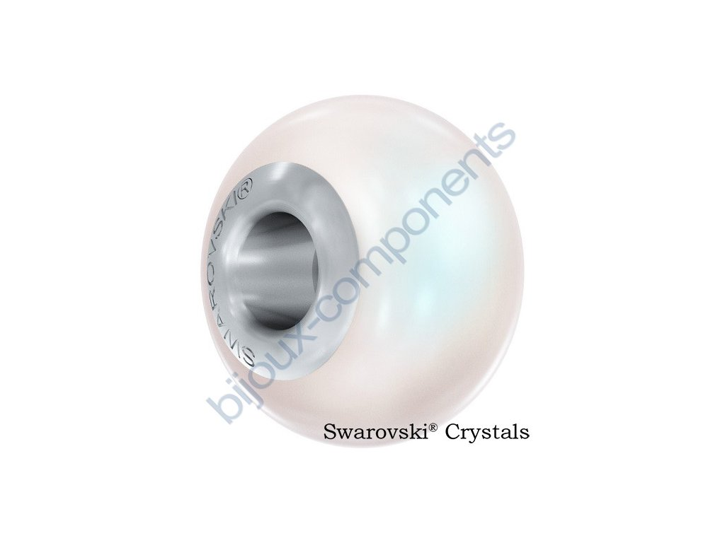 SWAROVSKI CRYSTALS BeCharmed Pearl - crystal pearlescent white pearl steel, 14mm
