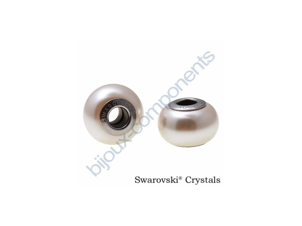 SWAROVSKI CRYSTALS BeCharmed Pearl - crystal cream rose pearl, 14mm
