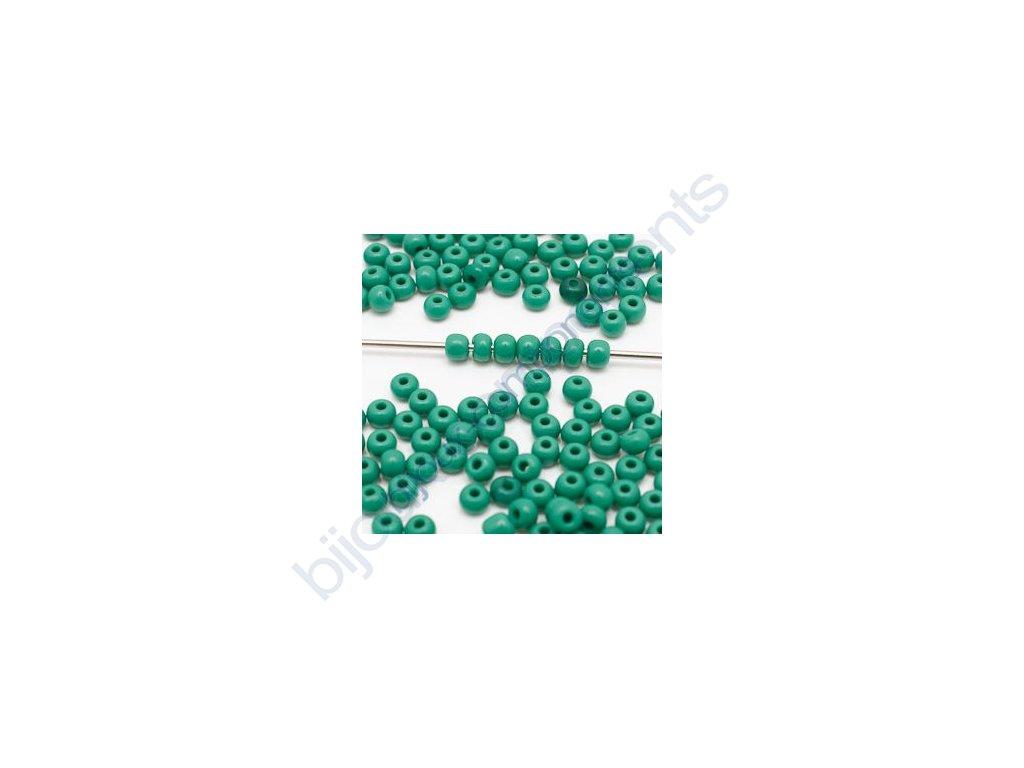 skleněné korálky - ramš, cca 2x3mm