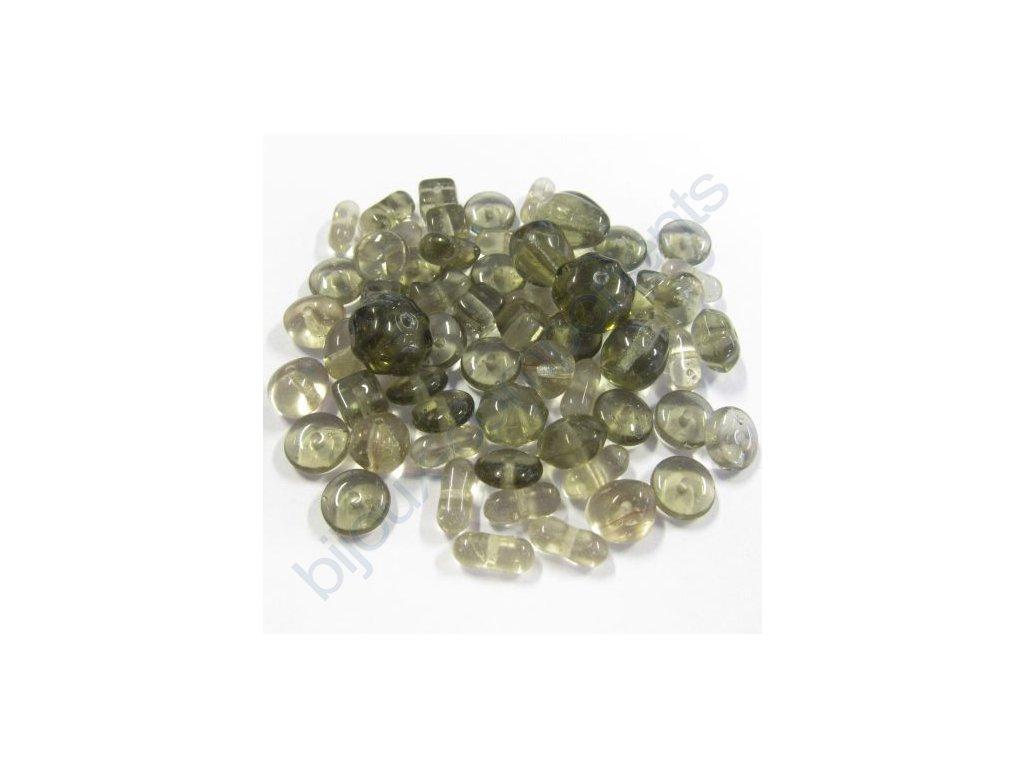 skleněné korálky - ramš, mix velikostí (mix black diamond )
