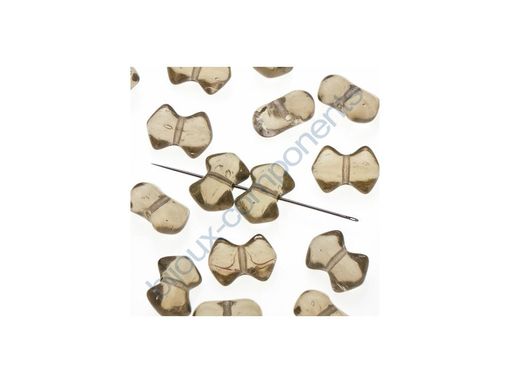 skleněné korálky - ramš, cca 9,5x6,7mm