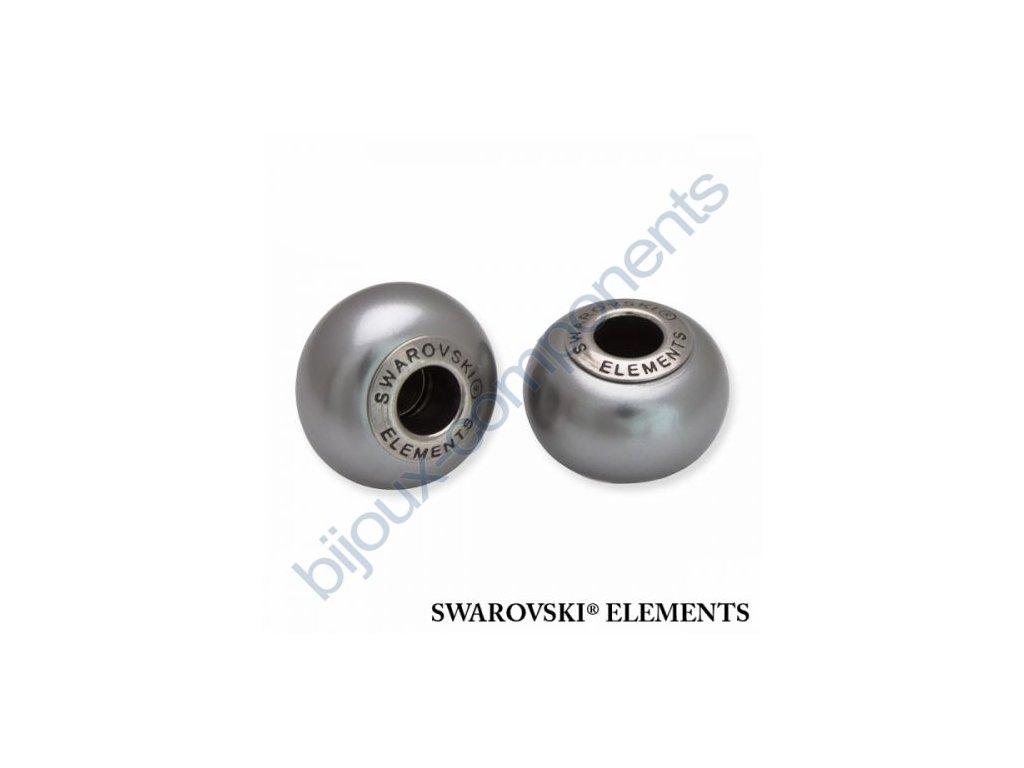 SWAROVSKI ELEMENTS BeCharmed Pearl - crystal grey pearl steel, 14mm