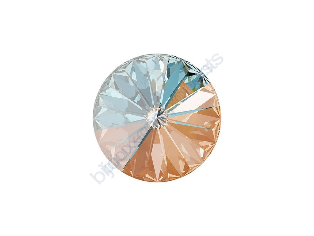SWAROVSKI CRYSTALS kameny - Rivoli Chaton, crystal peach, 12mm