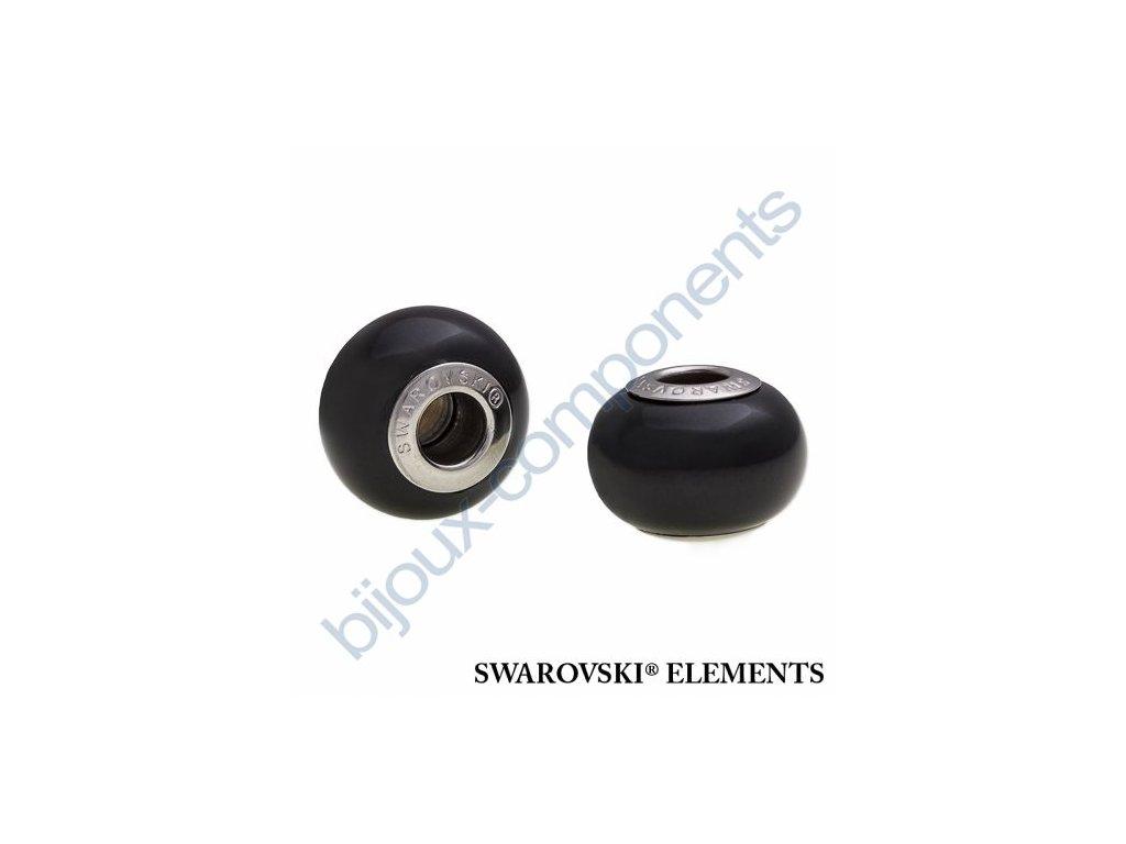 SWAROVSKI ELEMENTS BeCharmed Pearl - crystal mystic black pearl steel, 14mm