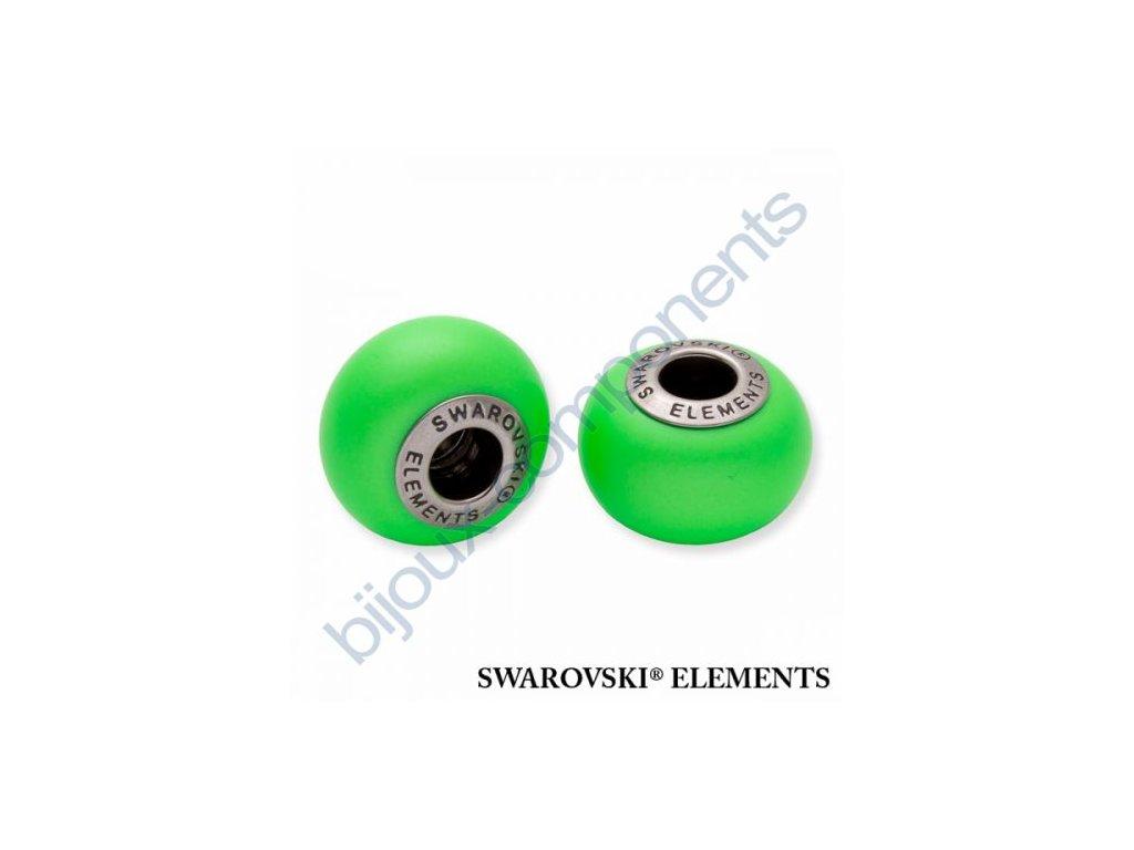 SWAROVSKI ELEMENTS BeCharmed Pearl - crystal neon green pearl steel, 14mm