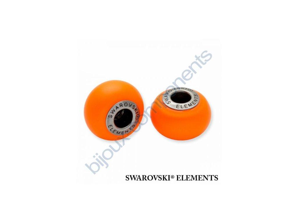 SWAROVSKI ELEMENTS BeCharmed Pearl - crystal neon orange pearl steel, 14mm
