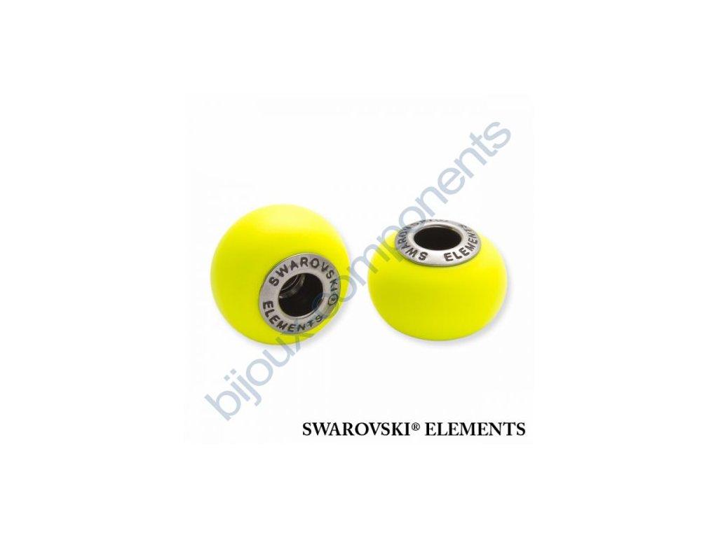 SWAROVSKI ELEMENTS BeCharmed Pearl - crystal neon yellow pearl steel, 14mm