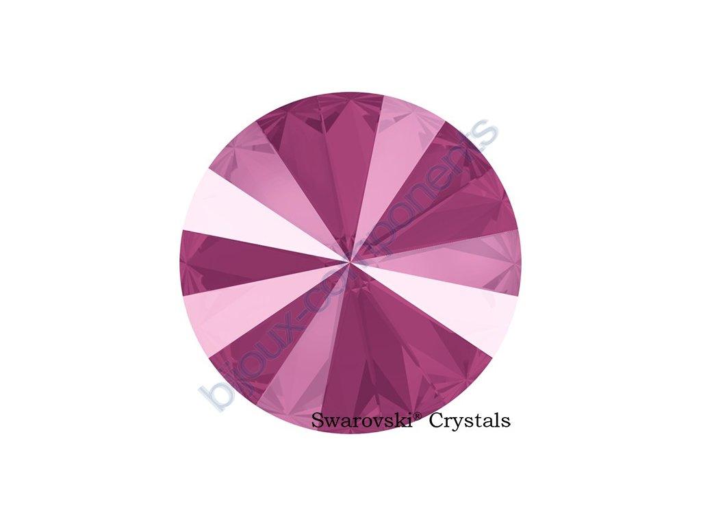 SWAROVSKI CRYSTALS kameny - Rivoli Chaton, crystal peony pink, 12mm