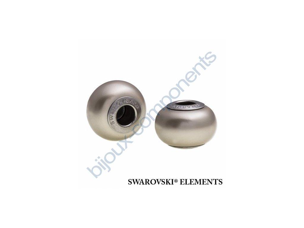 SWAROVSKI ELEMENTS BeCharmed Pearl - crystal platinum pearl steel, 14mm