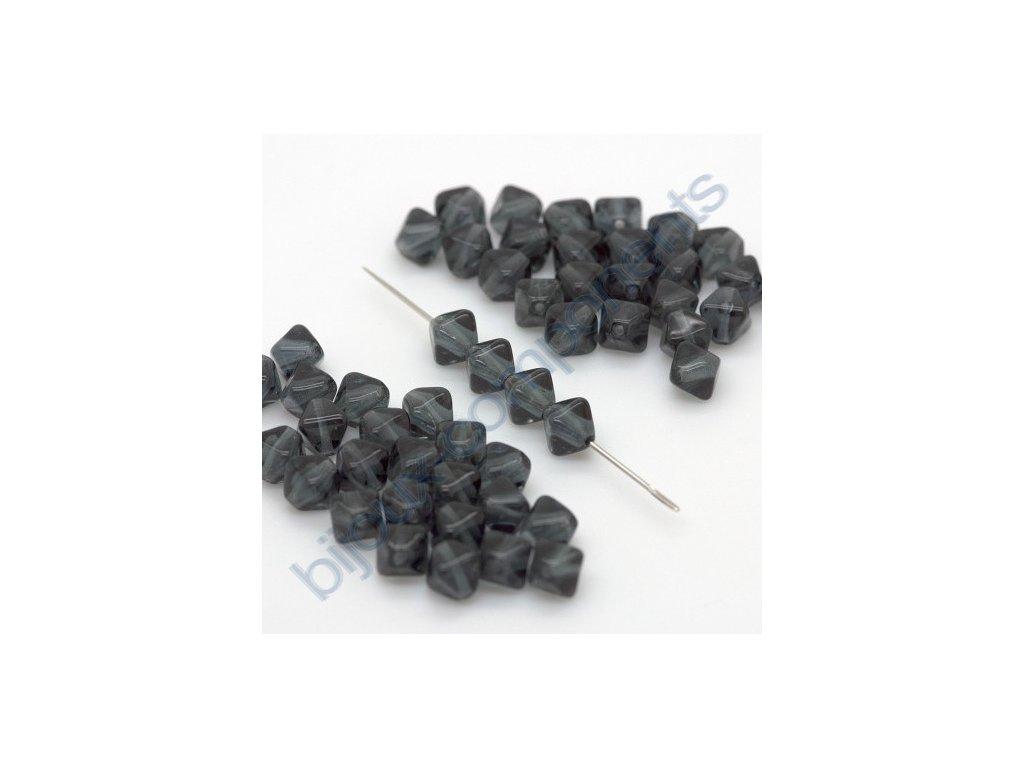 skleněné korálky - black diamond, cca 6x5mm