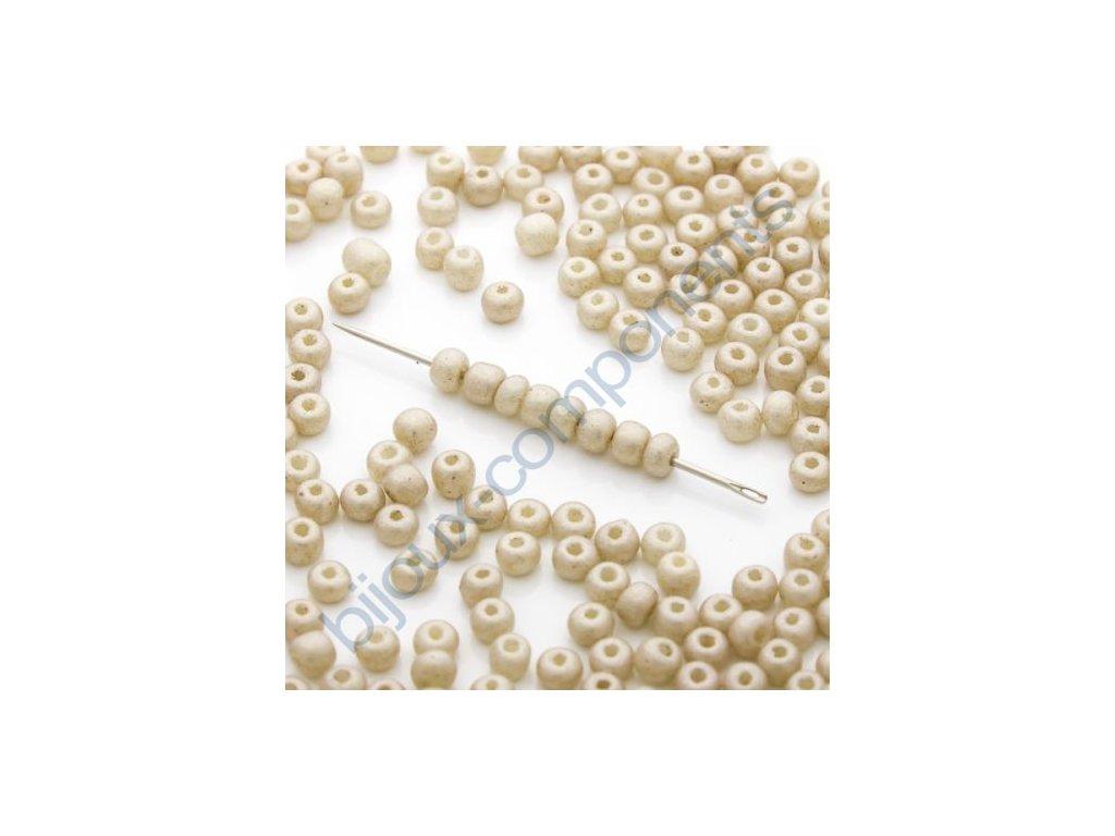 skleněné korálky - ramš, cca 2,6x3,4mm