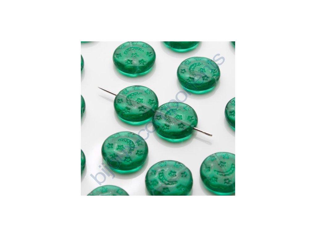 skleněné korálky - ramš, 13,1x12,7x3,7mm