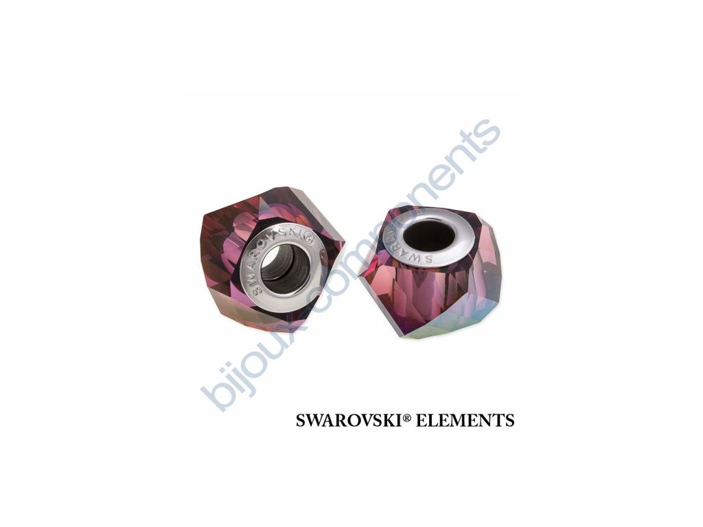 SWAROVSKI ELEMENTS BeCharmed Helix - crystal lilac shadow steel, 14mm