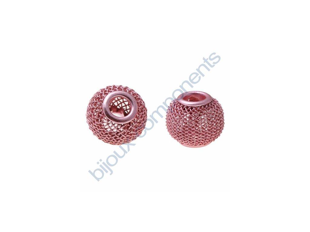 Síťovaná rondelka - růžová