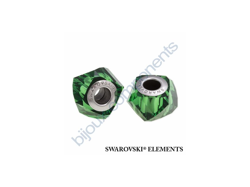 SWAROVSKI ELEMENTS BeCharmed Helix - dark moss green steel, 14mm