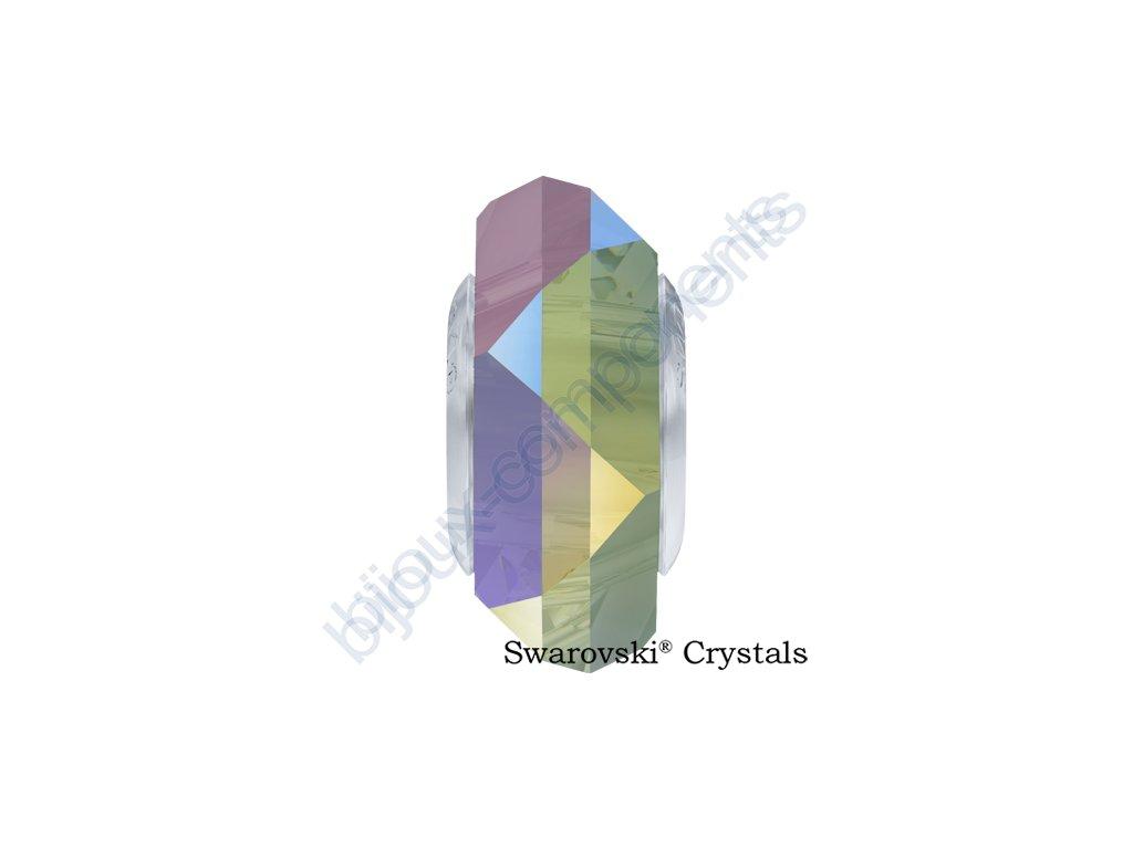 SWAROVSKI ELEMENTS BeCharmed Fortune - crystal paradise shine steel, 14mm