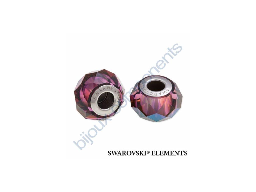 SWAROVSKI ELEMENTS BeCharmed Briolette - crystal lilac shadow steel, 14mm